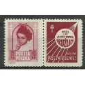 Polska 1948 Mi zf 514 Fi 488Pw2 Czyste **