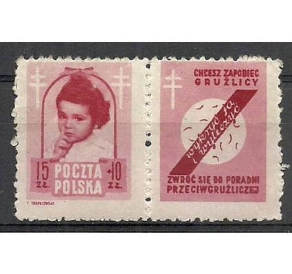 Znaczek Polska 1948 Mi zf 514 Fi 488Pw3 Czyste **