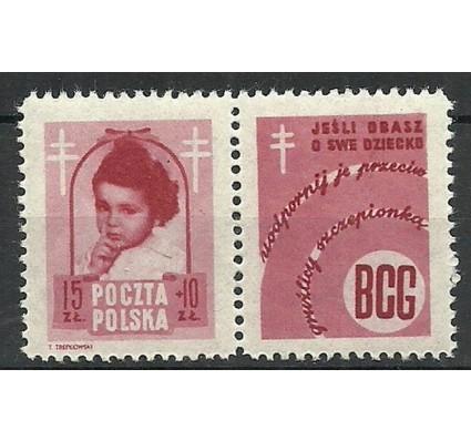 Znaczek Polska 1948 Mi zf 514 Fi 488Pw4 Czyste **