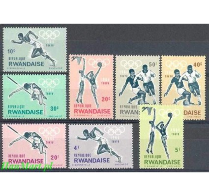 Znaczek Rwanda 1964 Mi 77-84 Czyste **