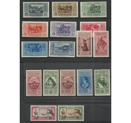 Znaczek Włochy 1932 Mi 391-407 Czyste **
