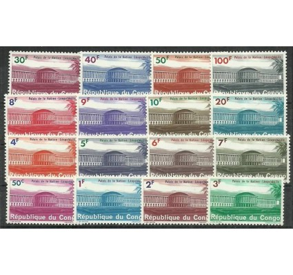 Znaczek Kongo Kinszasa / Zair 1964 Mi 191-206 Z podlepką *