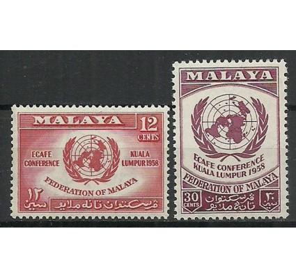 Znaczek Malaya 1958 Mi 6-7 Czyste **