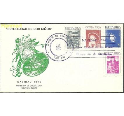 Znaczek Kostaryka 1976 Mi zwa 73-76 FDC