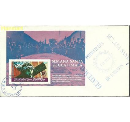Znaczek Gwatemala 1977 Mi bl 24 FDC
