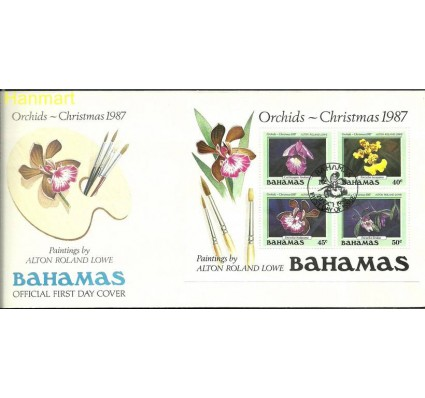 Znaczek Bahamy 1987 Mi bl 52 FDC