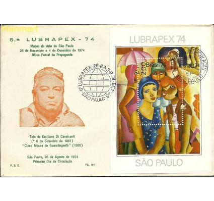 Znaczek Brazylia 1974 Mi bl 36 FDC