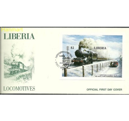 Znaczek Liberia 1988 Mi bl 115 FDC