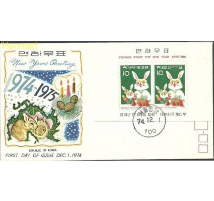 Znaczek Korea Południowa 1974 Mi bl 400 FDC