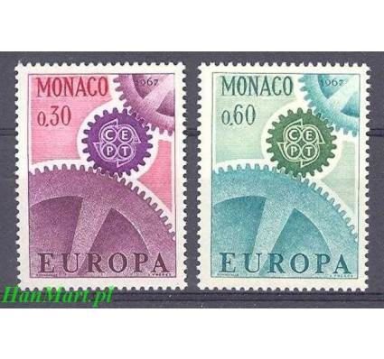 Znaczek Monako 1967 Mi 870-871 Czyste **