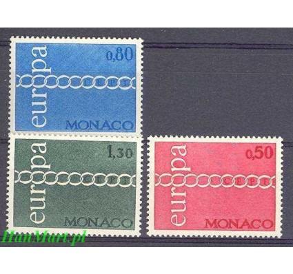 Monako 1971 Mi 1014-1016 Czyste **