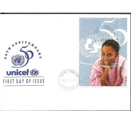 Znaczek Dominika 1996 Mi bl 313 FDC
