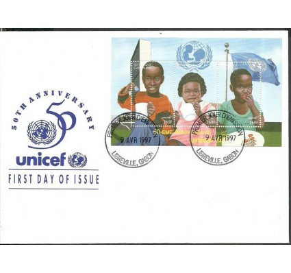 Znaczek Gabon 1997 Mi ark 1343-1345 FDC