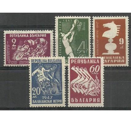 Znaczek Bułgaria 1947 Mi 606-610 Z podlepką *