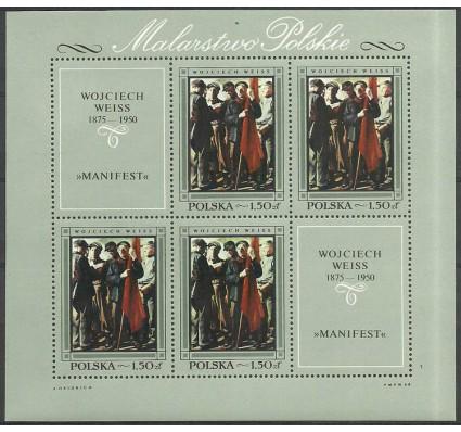 Znaczek Polska 1968 Mi ark 1868 Fi bl 53 Czyste **