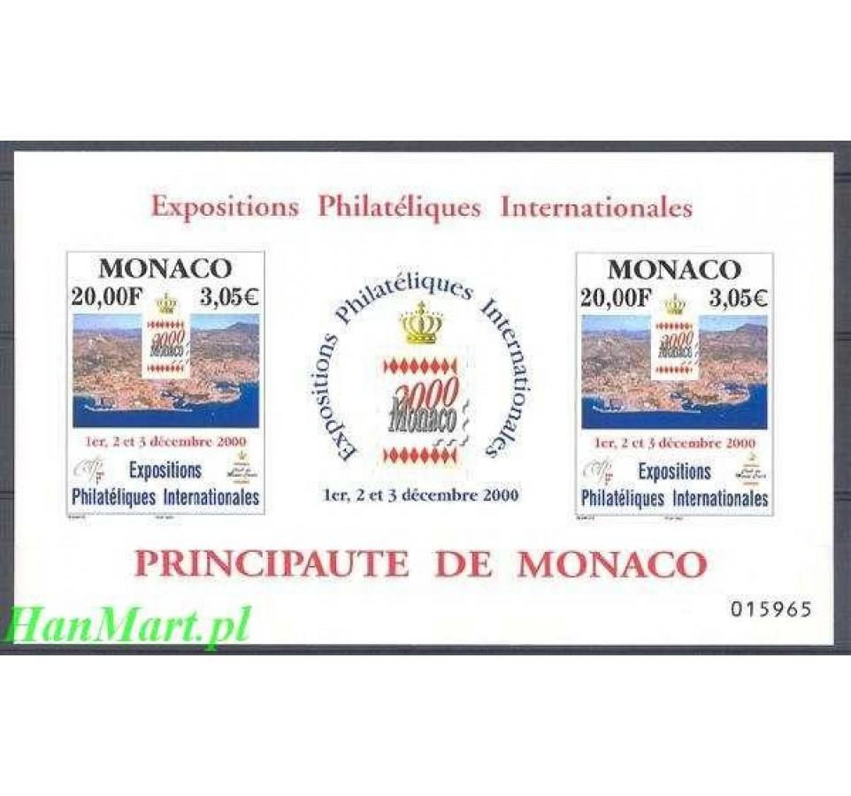 Monako 2000 Mi bl 81 Czyste **