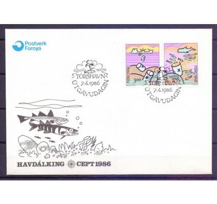 Znaczek Wyspy Owcze 1986 Mi 134-135 FDC