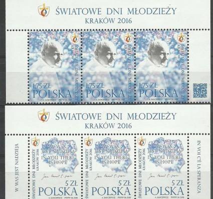 Znaczek Polska 2015 Mi 4760-4761 Fi 4610-4611 Czyste **