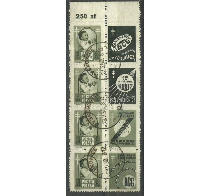Znaczek Polska 1948 Mi zf 511 Fi zf 485 Stemplowane