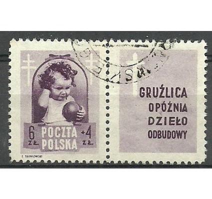 Znaczek Polska 1948 Mi zf 513 Fi zf 487 Stemplowane