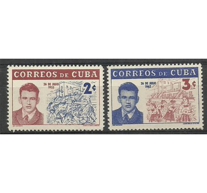 Znaczek Kuba 1962 Mi 801-802 Czyste **