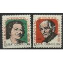 Kuba 1965 Mi 1004-1005 Czyste **
