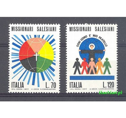 Znaczek Włochy 1977 Mi 1563-1564 Czyste **