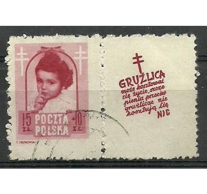 Znaczek Polska 1948 Mi zf 514 Fi zf 488 Stemplowane