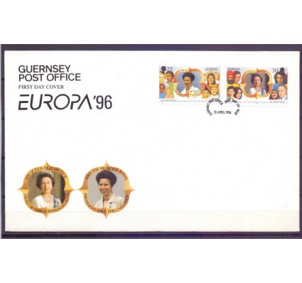 Znaczek Guernsey 1996 Mi 691-692 FDC