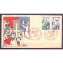 Francja 1966 Mi 1568-1569 FDC