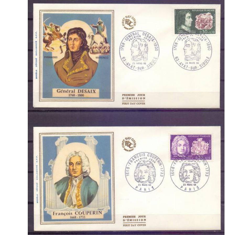 Francja 1968 Mi 1617-1618 FDC