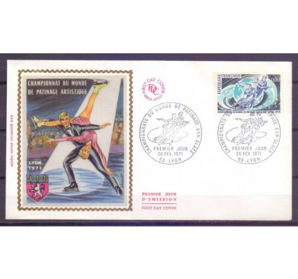 Znaczek Francja 1971 Mi 1739 FDC