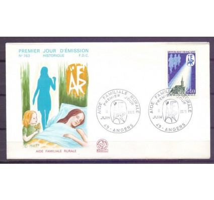 Znaczek Francja 1971 Mi 1755 FDC