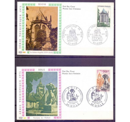 Znaczek Francja 1971 Mi 1756-1760 FDC