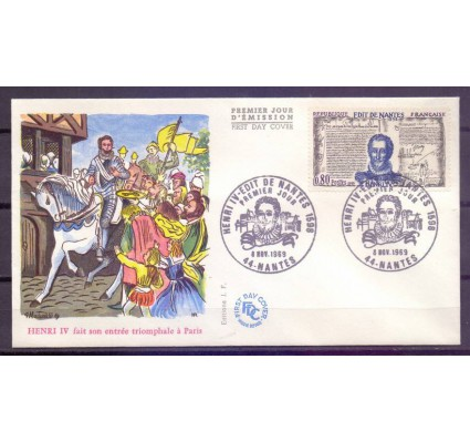 Znaczek Francja 1969 Mi 1690 FDC
