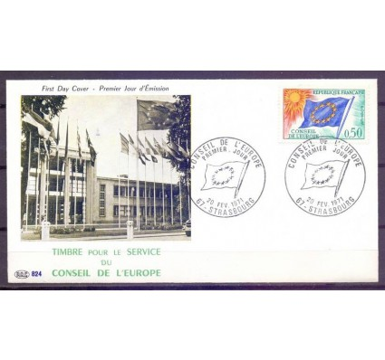 Znaczek Francja 1971 Mi die 15 FDC