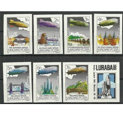 Znaczek Węgry 1981 Mi zf 3477-3483B Czyste **