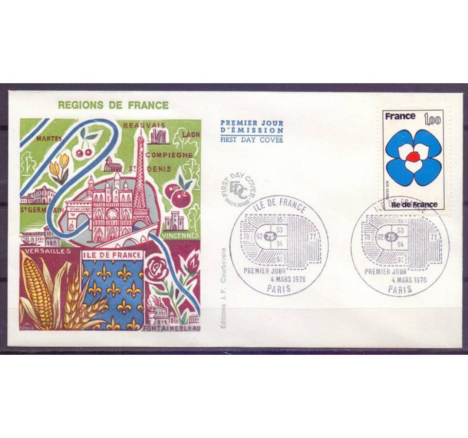 Francja 1978 Mi 2076 FDC
