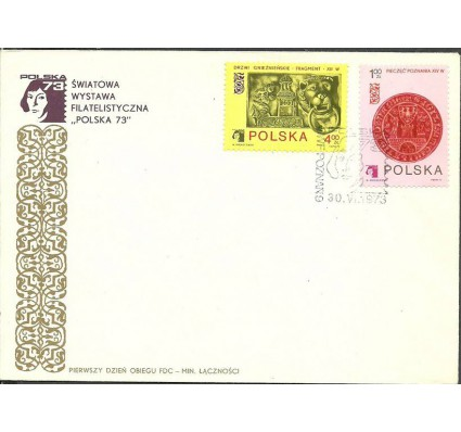 Znaczek Polska 1973 Mi 2258,2261 Fi 2111,2114 FDC