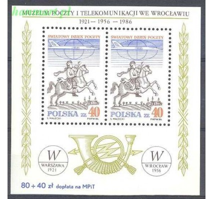 Polska 1986 Mi bl 101 Fi bl 131 Czyste **