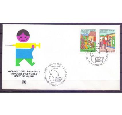 Znaczek Narody Zjednoczone Genewa 1987 Mi 160-161 FDC