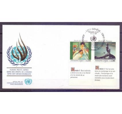 Znaczek Narody Zjednoczone Genewa 1989 Mi 180-181 FDC