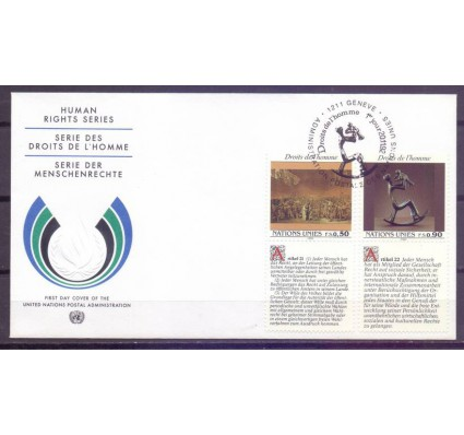 Znaczek Narody Zjednoczone Genewa 1992 Mi 223-224 FDC