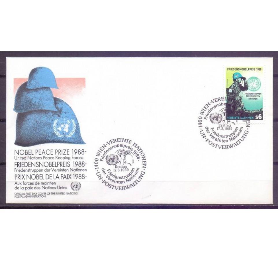 Narody Zjednoczone Wiedeń 1989 Mi 91 FDC
