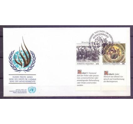 Znaczek Narody Zjednoczone Wiedeń 1989 Mi 96-97 FDC