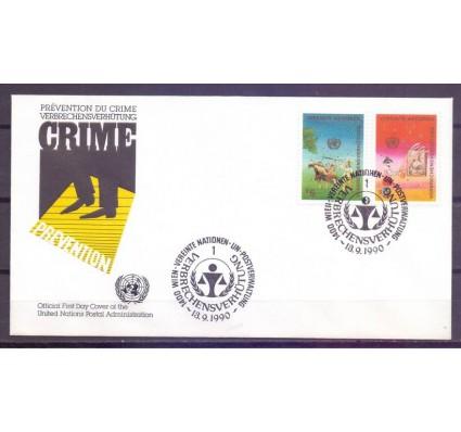 Znaczek Narody Zjednoczone Wiedeń 1990 Mi 106-107 FDC