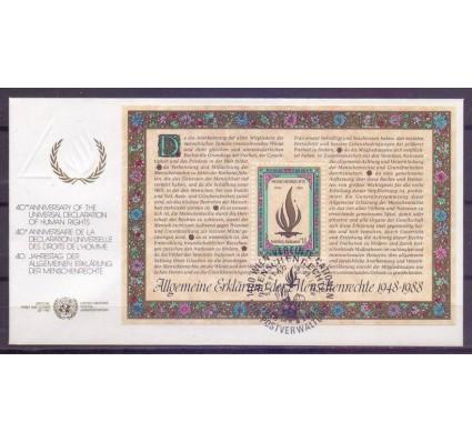 Znaczek Narody Zjednoczone Wiedeń 1988 Mi bl 4 FDC