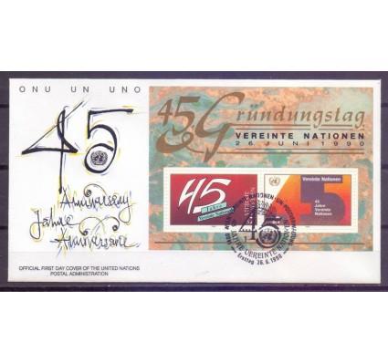 Znaczek Narody Zjednoczone Wiedeń 1990 Mi bl 5 FDC