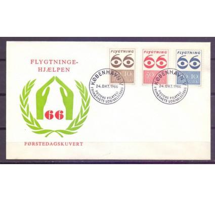Znaczek Dania 1966 Mi 445-447 FDC