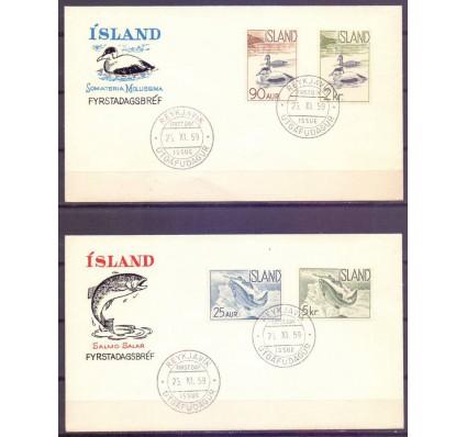 Znaczek Islandia 1959 Mi 335-338 FDC